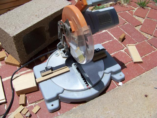 Miter saw came in handy for short cuts.