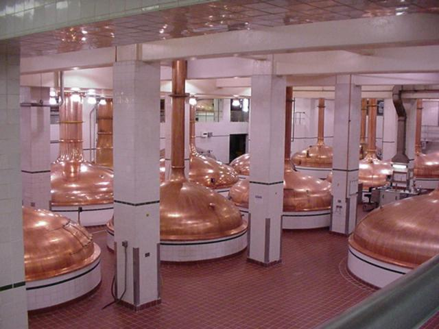 Vats are made of copper.