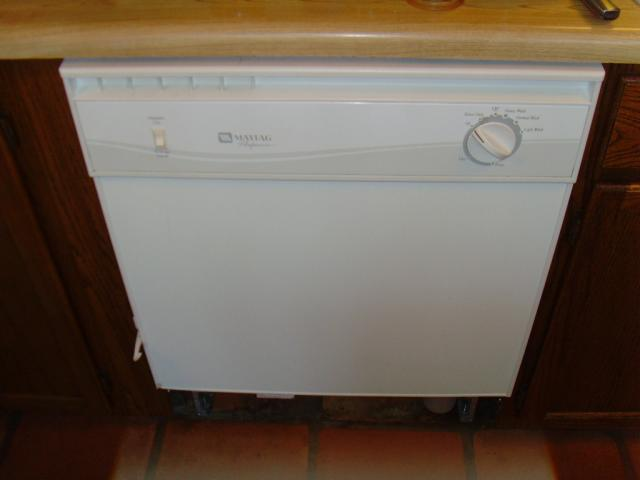 Dishwasher back in place and no leaks!