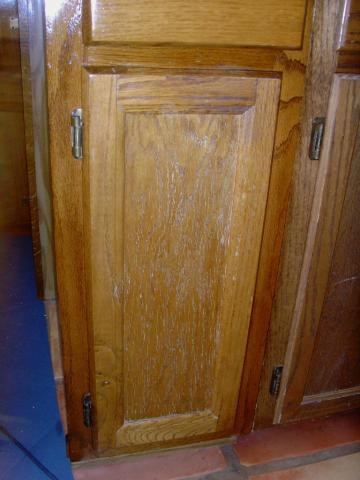 Cabinet needs repair, like many of ours.
